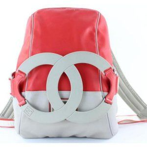 Chanel Ultra Rare XL CC Logo Sports Backpack Red